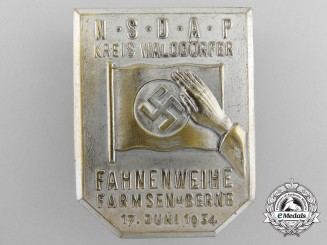 An 1934 NSDAP Forest Villages Flags Consecration Gathering at Farmsen-Berne Tinnie