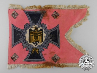 A German Panzer Battalion Standard Swallowtail Desk Flag