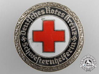 A German DRK Senior Helper's Service Badge