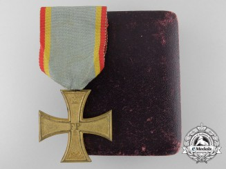 A 1914 Mecklenburg-Schwerin Military Merit Cross with Case