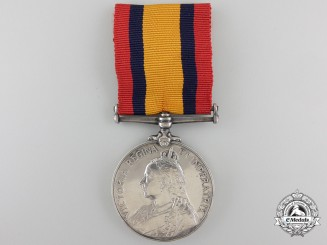 A Queen's South Africa Medal 1899-1902 to a Nursing Sister Collins