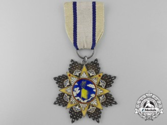A Chinese Order of the Resplendent Banner; 8th Class Officer
