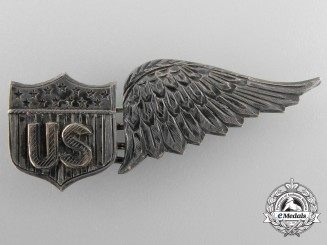 A Rare First War American Junior Military Aviator Observer Badge by Risenstdat