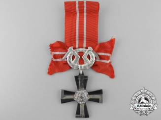 A Finnish Order of the Cross of Liberty; 4th Class Silver Cross 1939