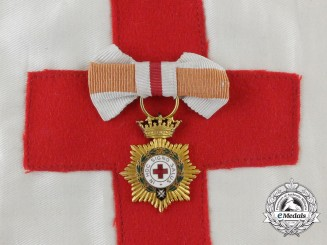 A Spanish Civil War Red Cross Nurse's Miniature Order and Armband