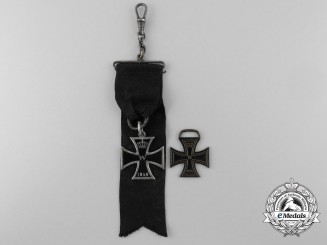 Two German Imperial Iron Cross Badges; 1914 & 1870