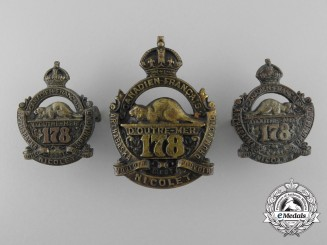 Two First War Sets of Canadian Should Badges