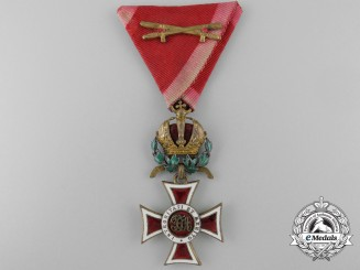 A First War Austrian Order of Leopold with War Decoration by Rozet & Fischmeister