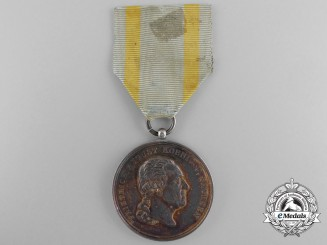 A Saxon Military Order of St.Heinrichs; Silver Merit Medal