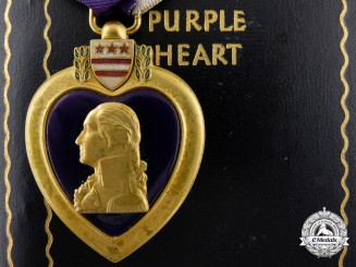 A Second War American Purple Heart with Case of Issue