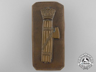 A Second War Period Italian Fascist Badge by Johnson, Milano
