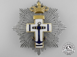 A Spanish Order of Naval Merit with White Distinction; Grand Cross Star c.1900