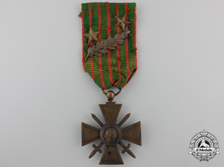 A First War French War Cross 1914-1916 with Decorations
