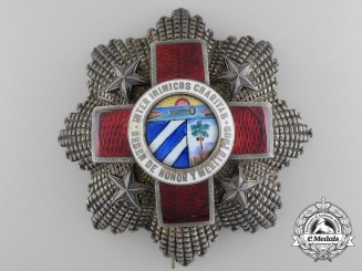 A Cuban Red Cross Order; First Class Breast Star by G. Wolfers, Belgian
