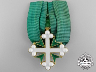 An Italian Order of St. Maurice & Lazarus in Gold by Q. Cravanzola