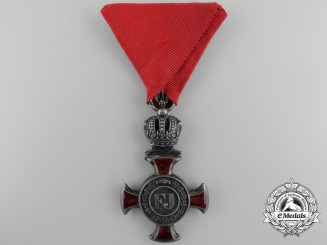 An Austrian Silver Cross of Merit with Crown by Kunz