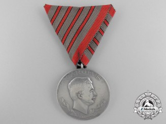 A Scarce First War Austrian Wound Medal for Four Wounds by R.Placht