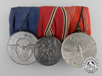 A German Police & Olympic Games Medal Bar