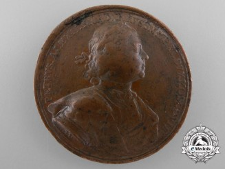 An Early 1704 Imperial Russian Siege of Narva Campaign Medal