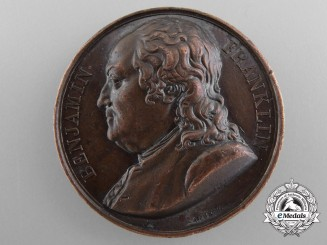 An 1818 Benjamin Franklin Medal by the French Mint