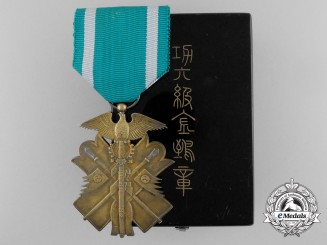 A Japanese Order of the Golden Kite; Sixth Class with Case