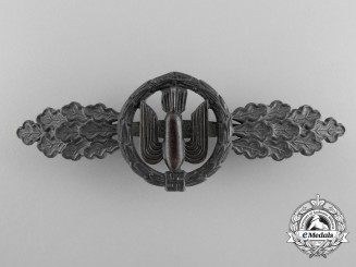 A Luftwaffe Silver Grade Bomber Clasp by Funke & Brüninghaus