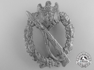 An Army/SS Silver Grade Infantry Badge by Friedrich Orth, Wien