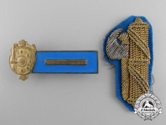 Two Italian Youth of the Lictor National Fascist Party Youth Movement Insignia