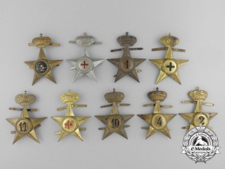 Nine Kingdom of Italy Cap Badges