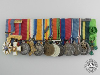 A Fine First War Period Order of St. Michael and St. George Miniature Grouping