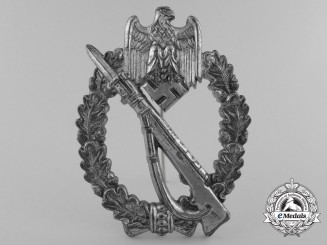 A Silver Grade Infantry Badge by Adolf Scholze