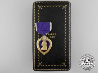 A Second War Purple Heart with Case to Private Charles J. Szulewski