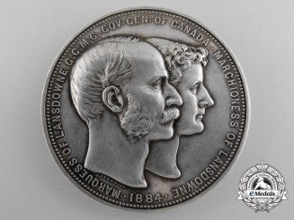 A Silver Canadian Governor General's Academic Medal 1883-1888