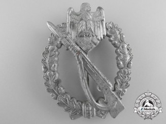 An Army Infantry Badge; Silver Grade by Richard Simm & Söhne