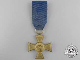 A First War Military Long Service Decoration; 25 Years