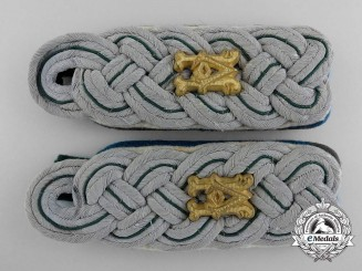 A Set of German Army Administration Major's Shoulder Boards