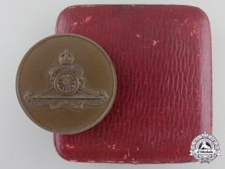 A First War Royal Horse Artillery Commemorative Medal in Case