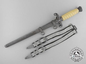 A Double Etched Army Dagger by Ernst Pack & Named to Hauptmann Fell
