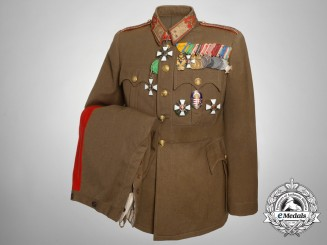 The Uniform & Awards of Hungarian General Vitez Istvan Kudriczy; National Leader of the Levente