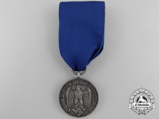 A Wehrmacht Long Service Medal; 4th Class for Four Years' Service