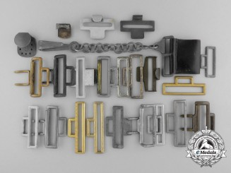 A Lot of Twenty-Three Pieces of Belt Hardware