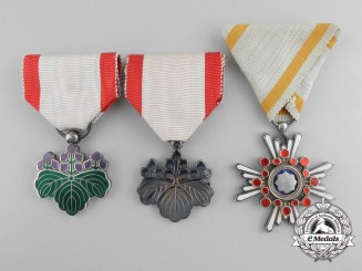 Three Japanese Orders & Decorations