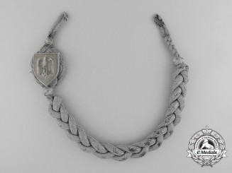 A First Type German Army Shooting Lanyard; Grade I 1936-39
