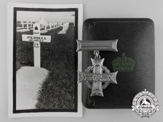 A Memorial Cross to Private Rose; Artillery Casualty Outside Caen 1944