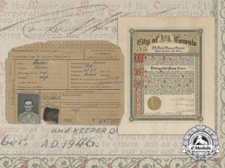 The POW Card & DFC Recognition Document for Destroying E-Boat & Locomotives