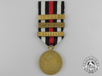 A Prussian War Merit Medal 1870-1871; Bronze Grade with 3 Clasps