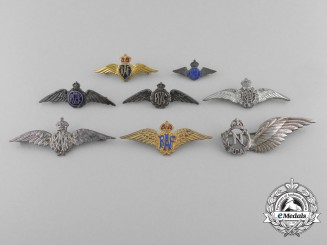 A Lot of Eight Canadian & British Second War Wings