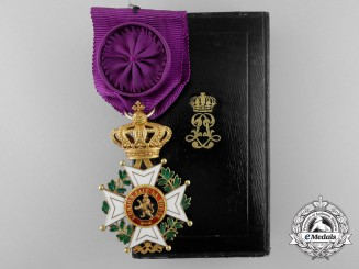 A Fine Belgian Order of Leopold in Gold; Officer's Breast Badge