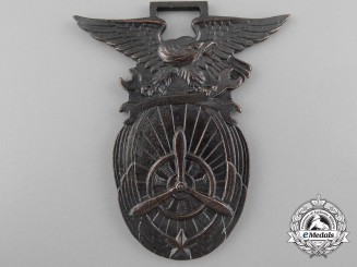 A Japanese Aircraft Mechanic Qualification Badge; Numbered