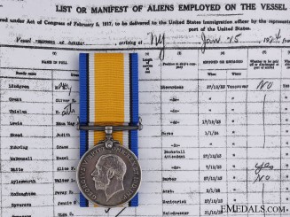 A British War Medal to the Military Merchant Marine